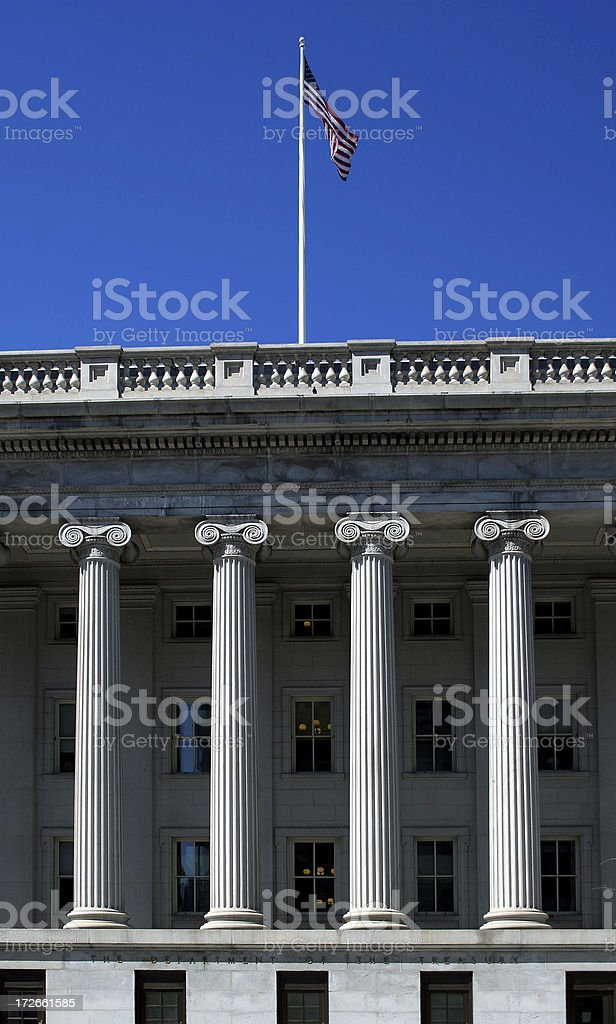 Department of the treasury royalty-free stock photo