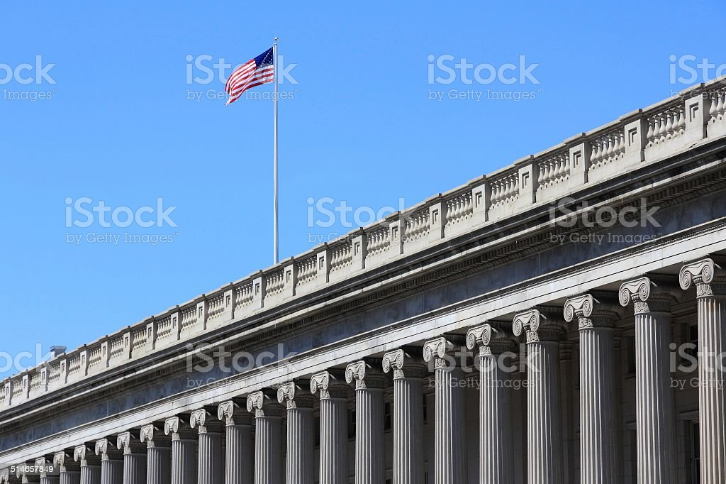Department of the Treasury stock photo