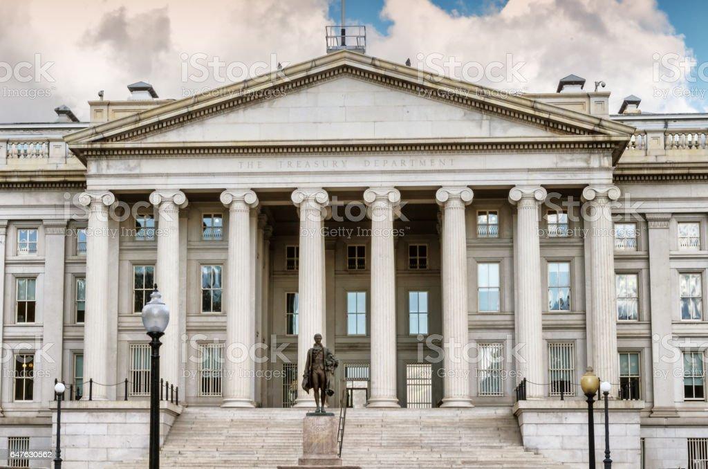 US Department of the Treasury, Washington DC stock photo