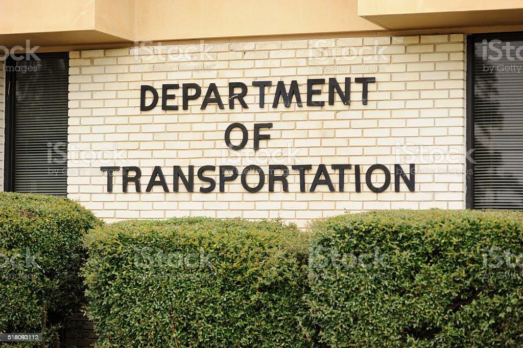 Department of transportation stock photo
