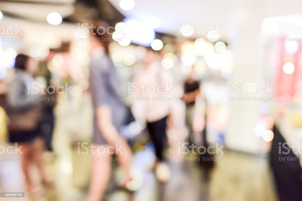 department store blurred stock photo