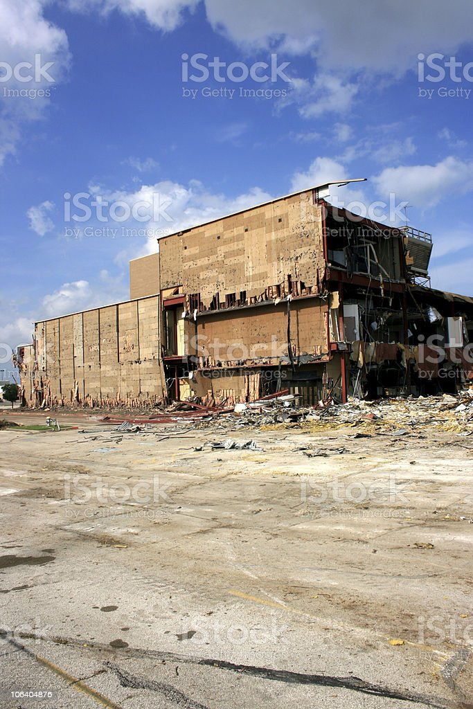 department store destruction royalty-free stock photo