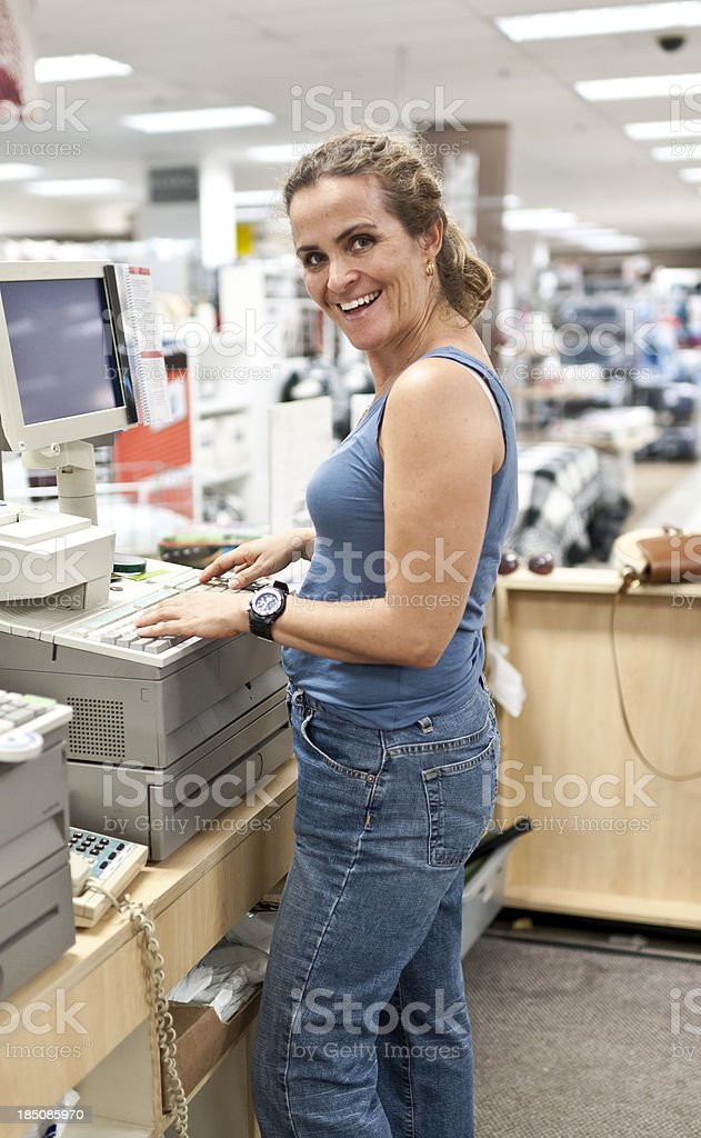 Department Store female worker royalty-free stock photo