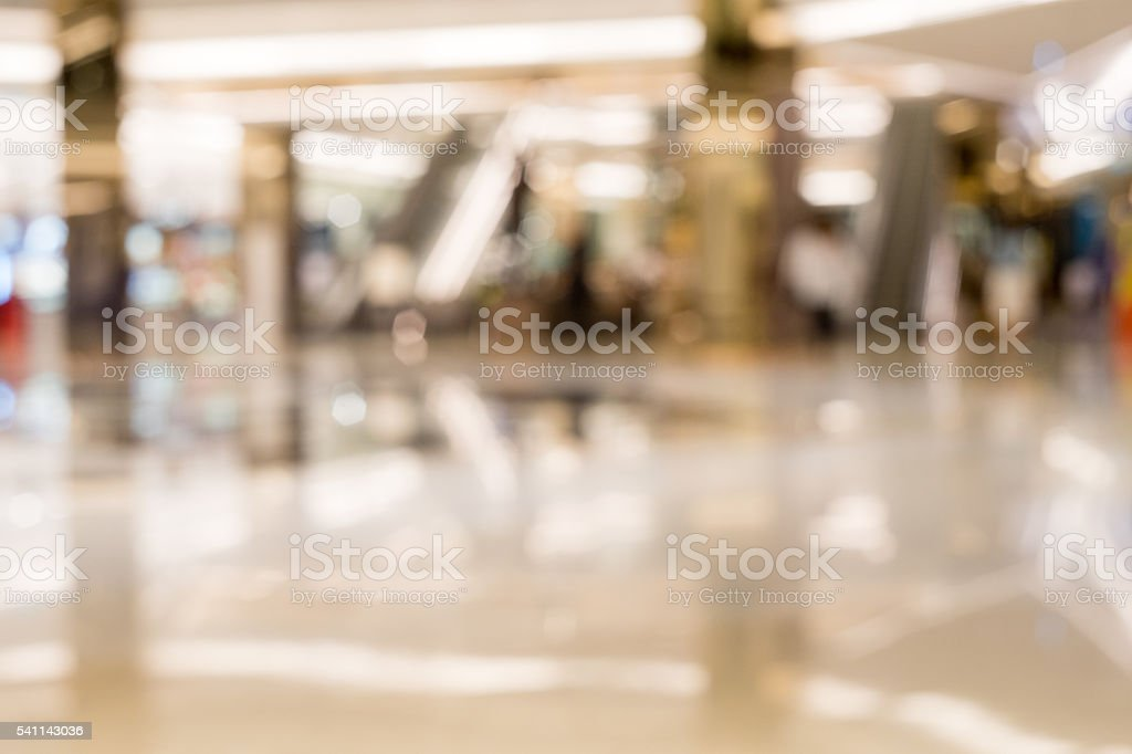 Department store out of focus stock photo