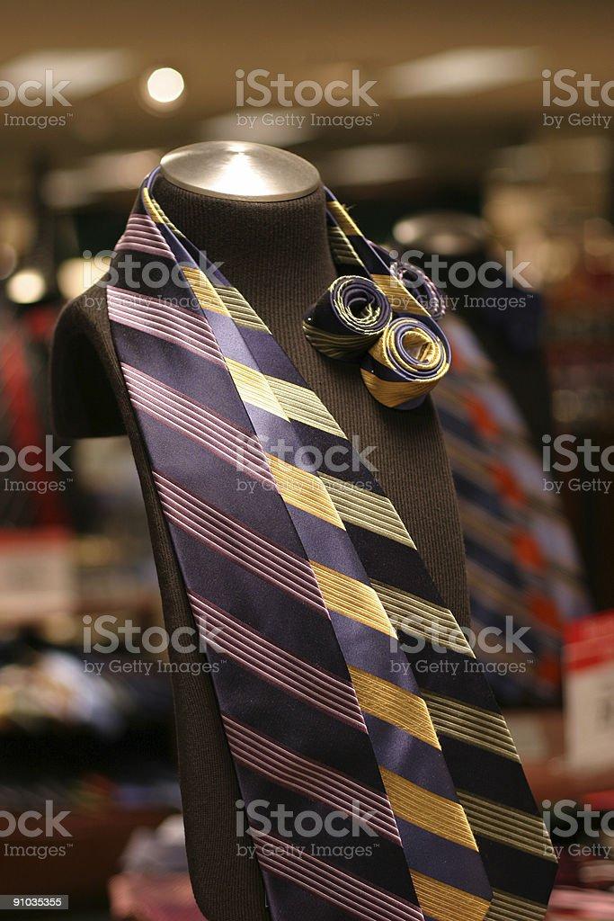 Department Store Tie Display stock photo