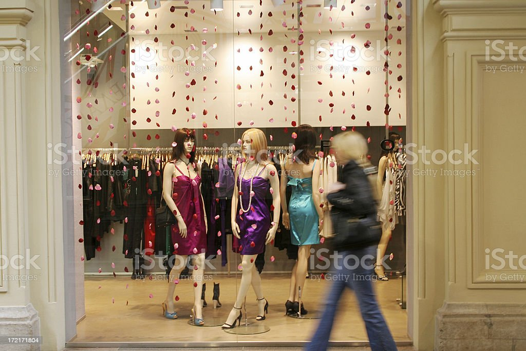Department store window royalty-free stock photo