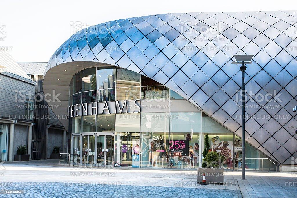 Departmental store Debenhams in new city center, Bury St Edmunds stock photo