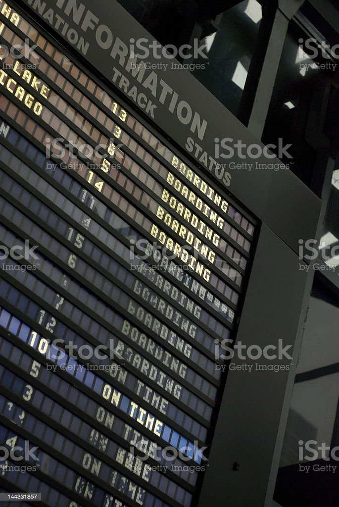Departure and Arrival Information stock photo