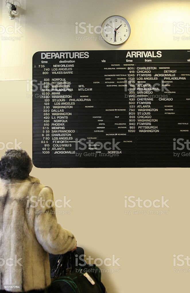 Departure Arrival royalty-free stock photo