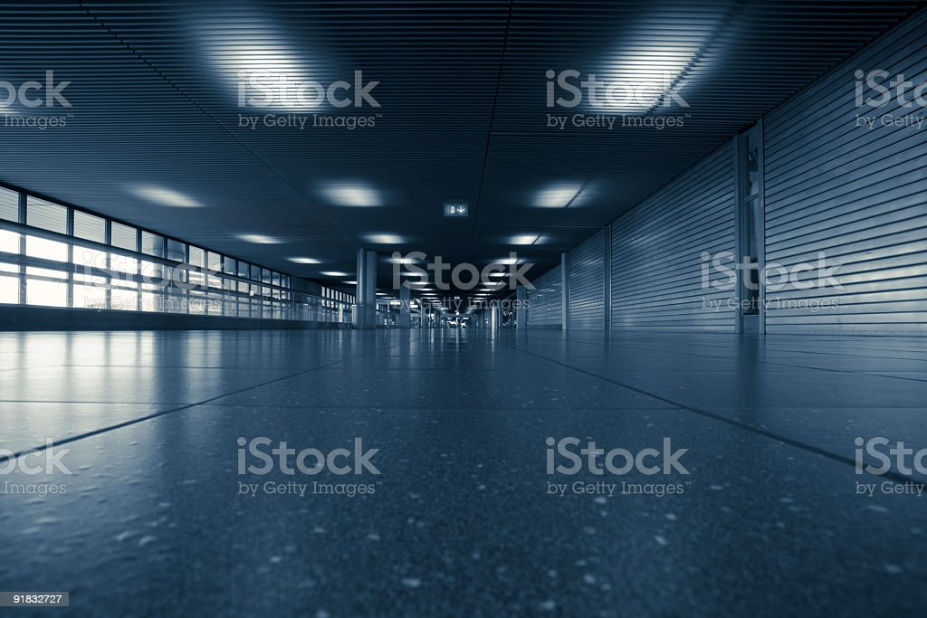 Departure corridor at Amsterdam Airport Schiphol royalty-free stock photo