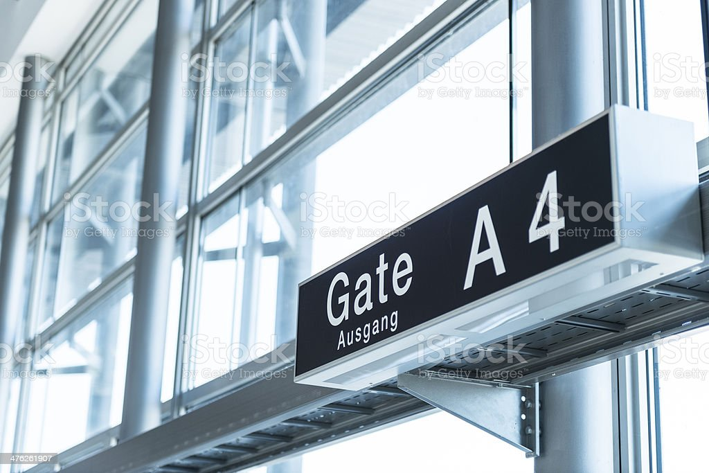 departure gate sign royalty-free stock photo