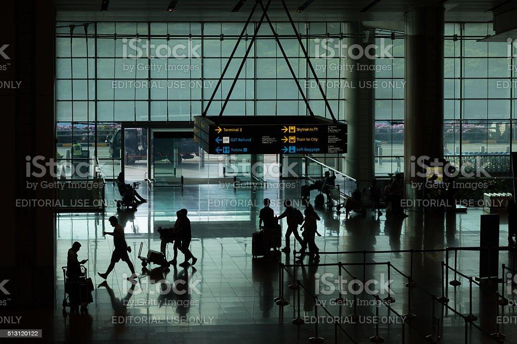 Departure Hall Terminal 2 stock photo