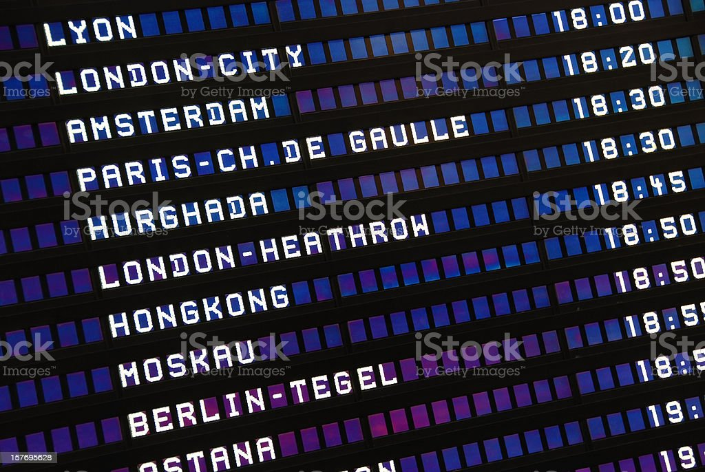 Departure information board royalty-free stock photo