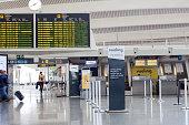 Departure lounge in Bilbao Airport