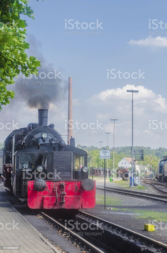 Departure of a Steam Train stock photo