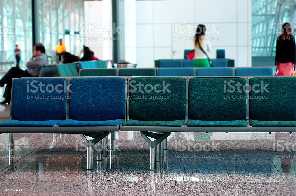 Departure room at the airport royalty-free stock photo