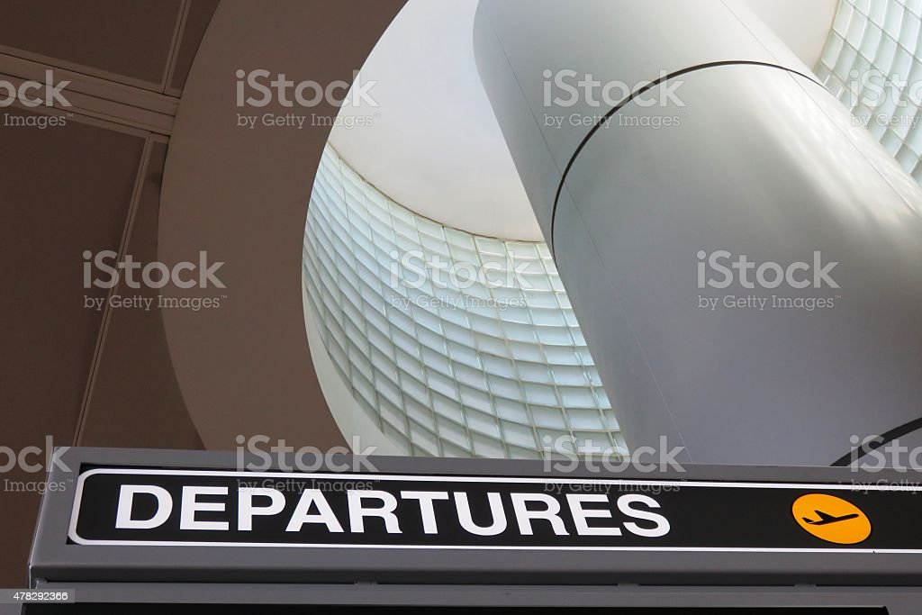 Departure Sign stock photo