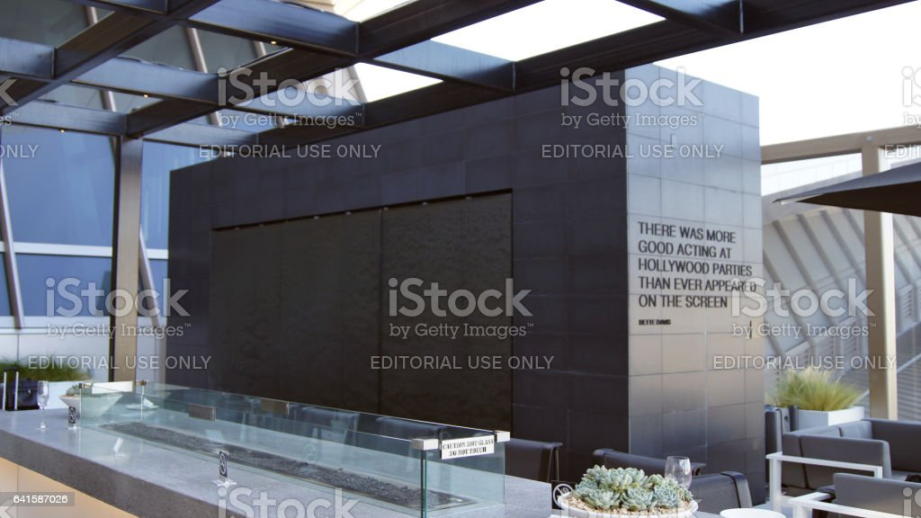 LOS ANGELES, CALIFORNIA, UNITED STATES - OCT 8, 2014: departure star alliance lounge area of the LA International Airport LAX , the primary airport serving the greater Area stock photo