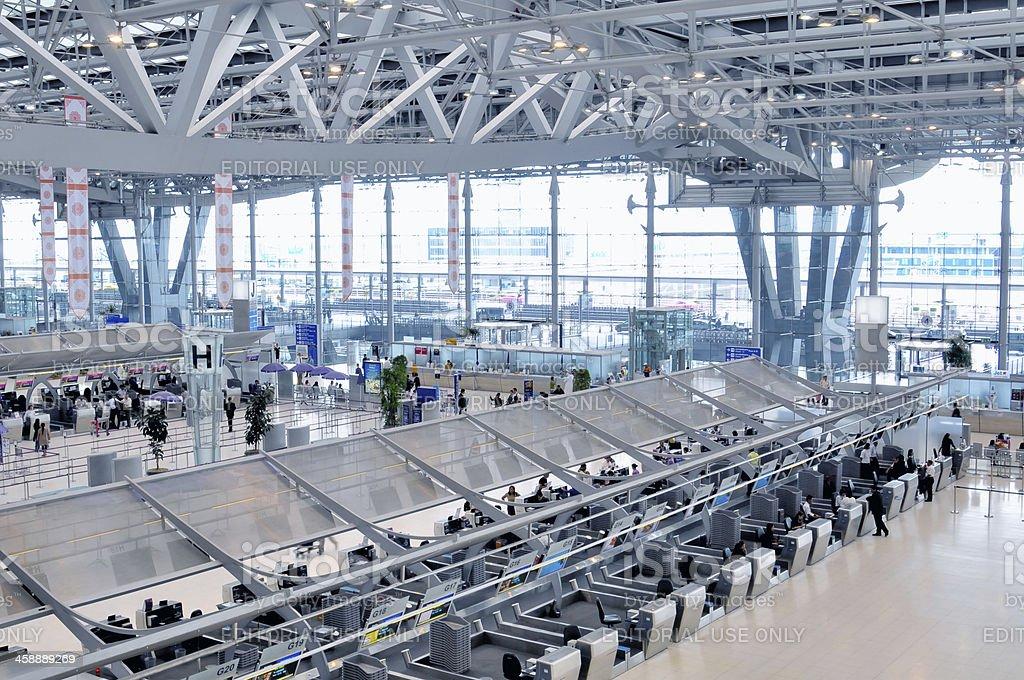 Departure Terminal of Bangkok Airport stock photo