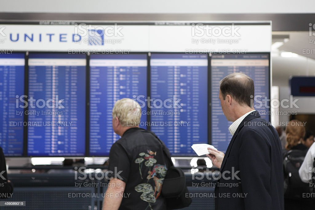 Departures Board royalty-free stock photo
