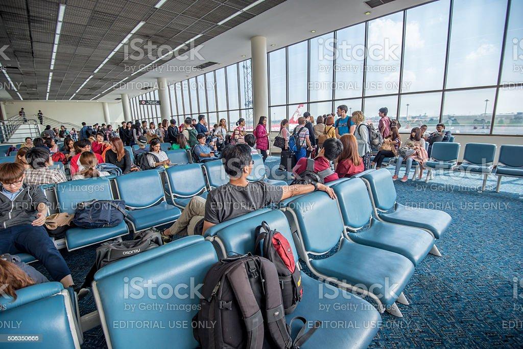 departures room stock photo