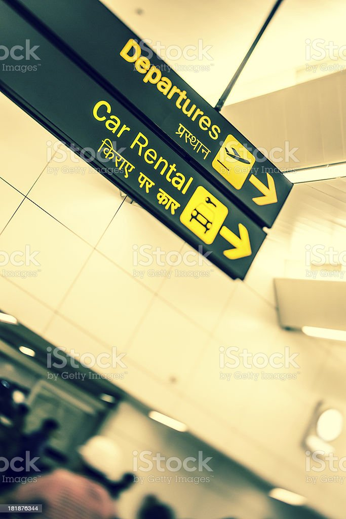 Departures Sign royalty-free stock photo