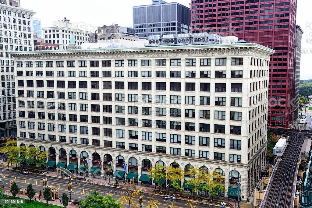 DePaul Center on State Steer, Chicago stock photo