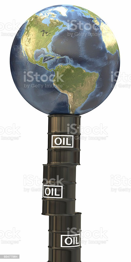 Dependency to Oil royalty-free stock photo