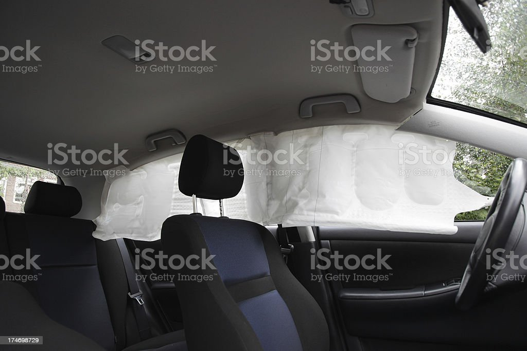 Deplyed Airbag royalty-free stock photo