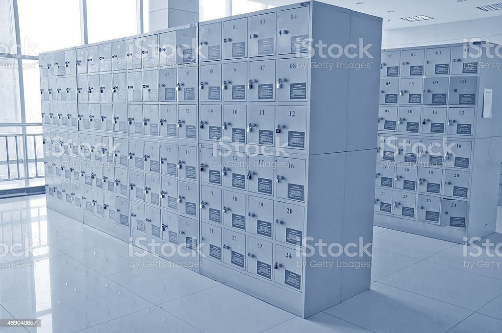 deposit boxes stock photo