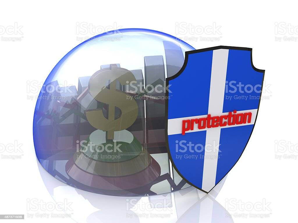 Deposit money. protection of business stock photo