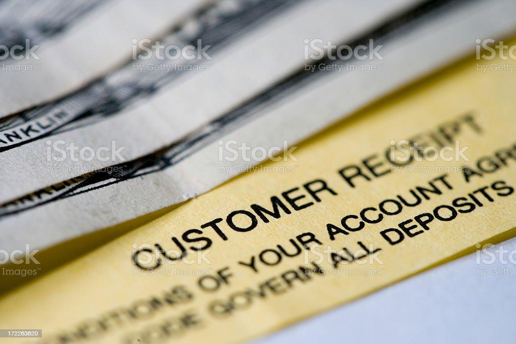 Deposit Receipt stock photo