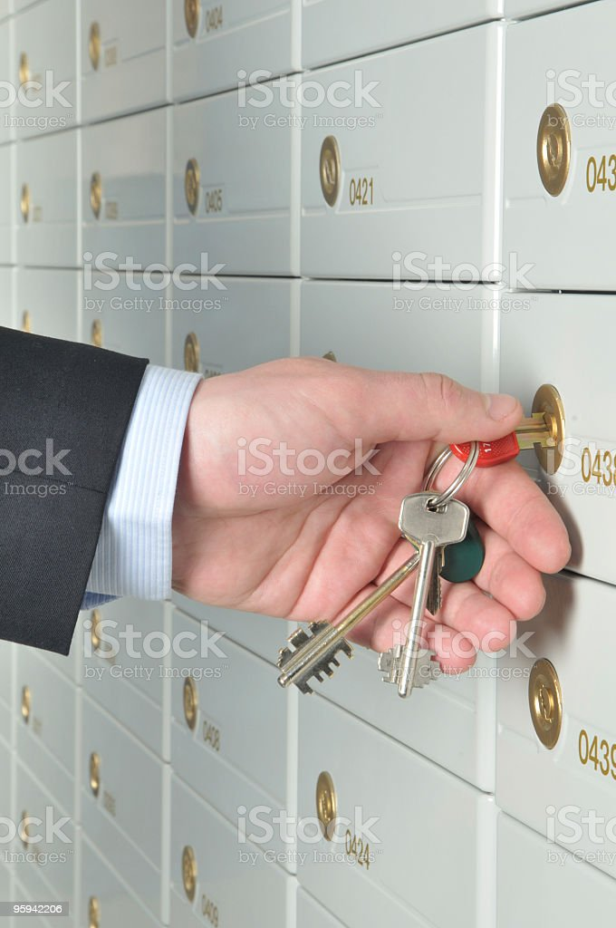 Deposit safe bank stock photo