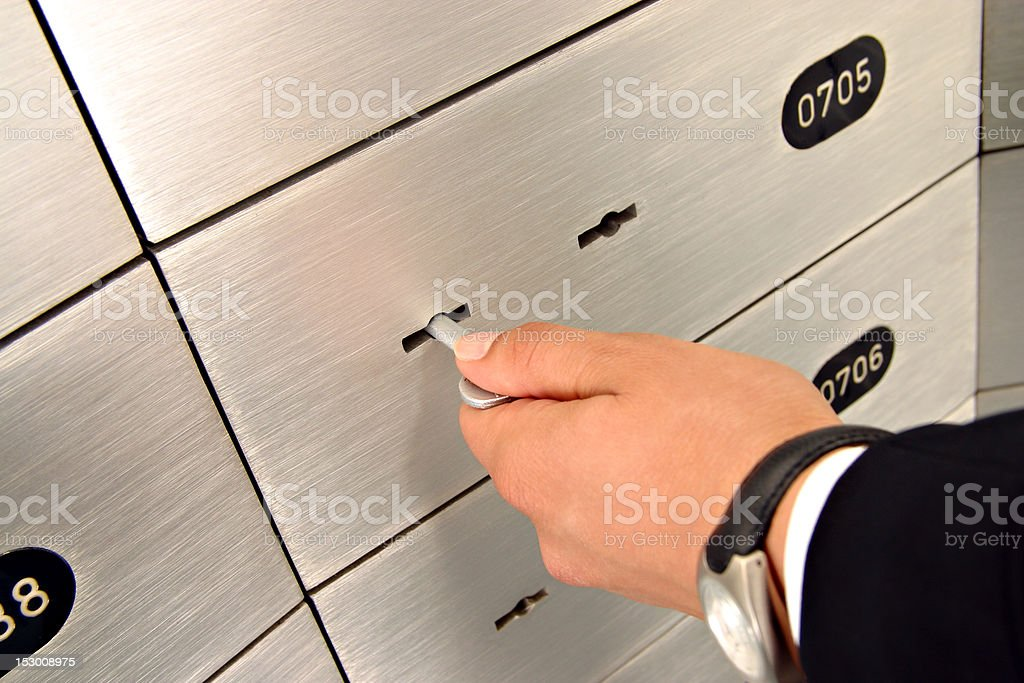 deposit safe box stock photo