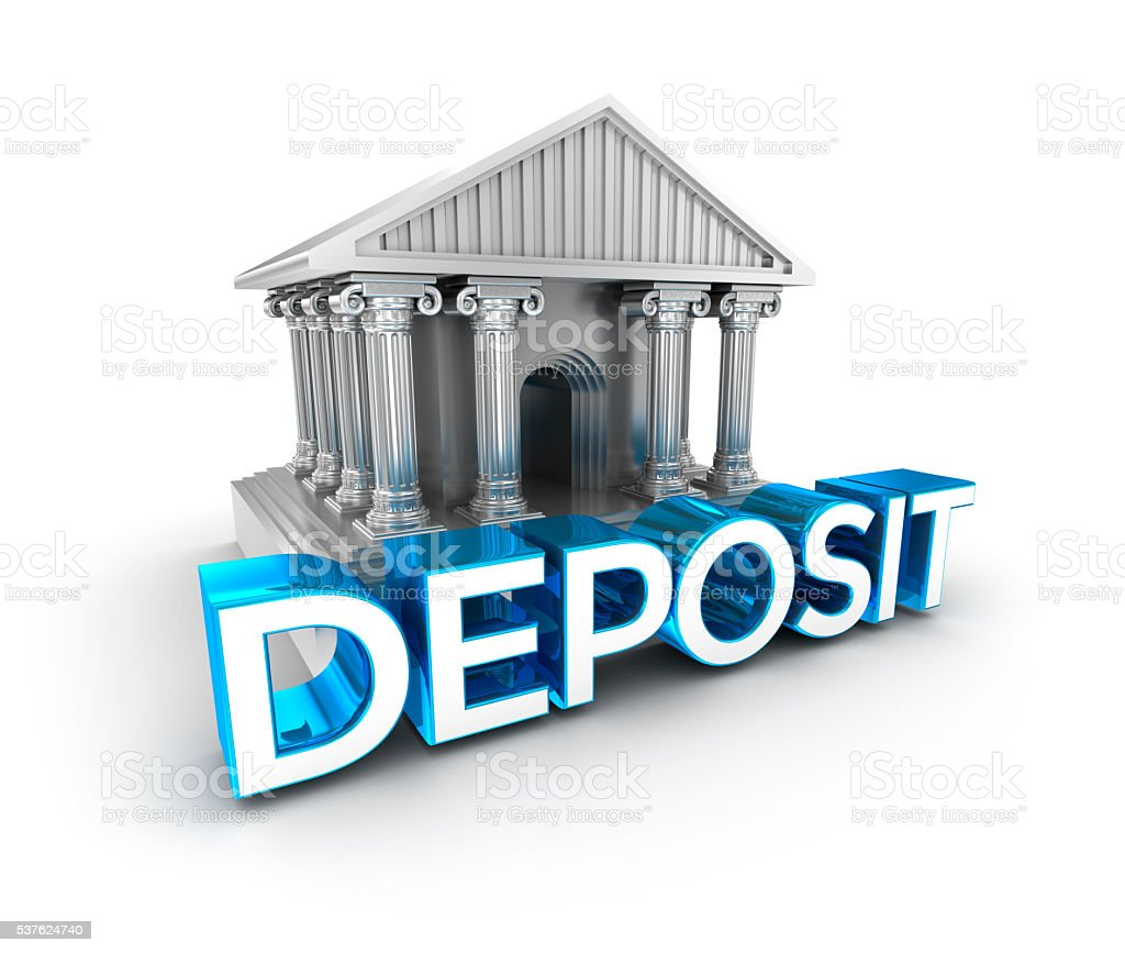 Deposit text, concept 3d icon stock photo