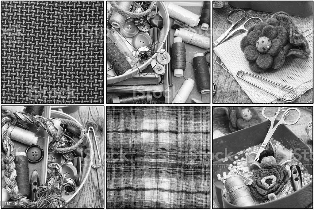 deprecated tools needlework royalty-free stock photo