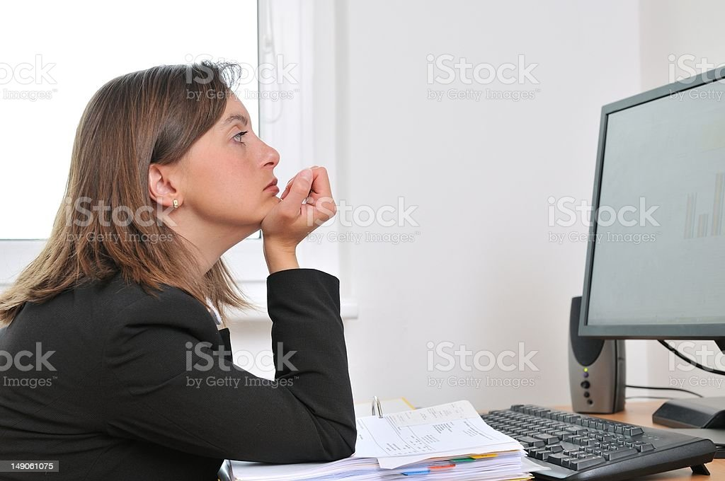 Depressed and tired business person in work royalty-free stock photo