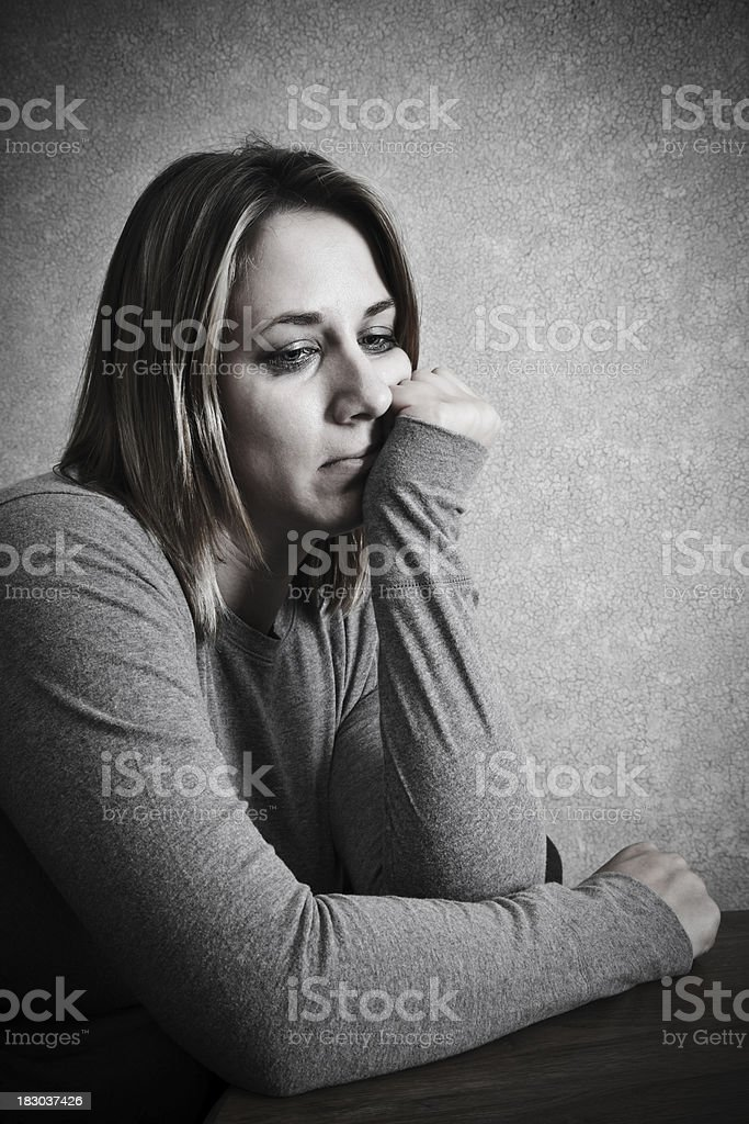 Depressed and Unhappy Woman royalty-free stock photo