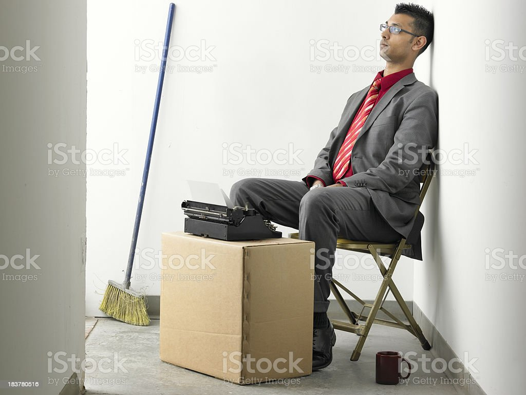 Depressed Asian businessman royalty-free stock photo