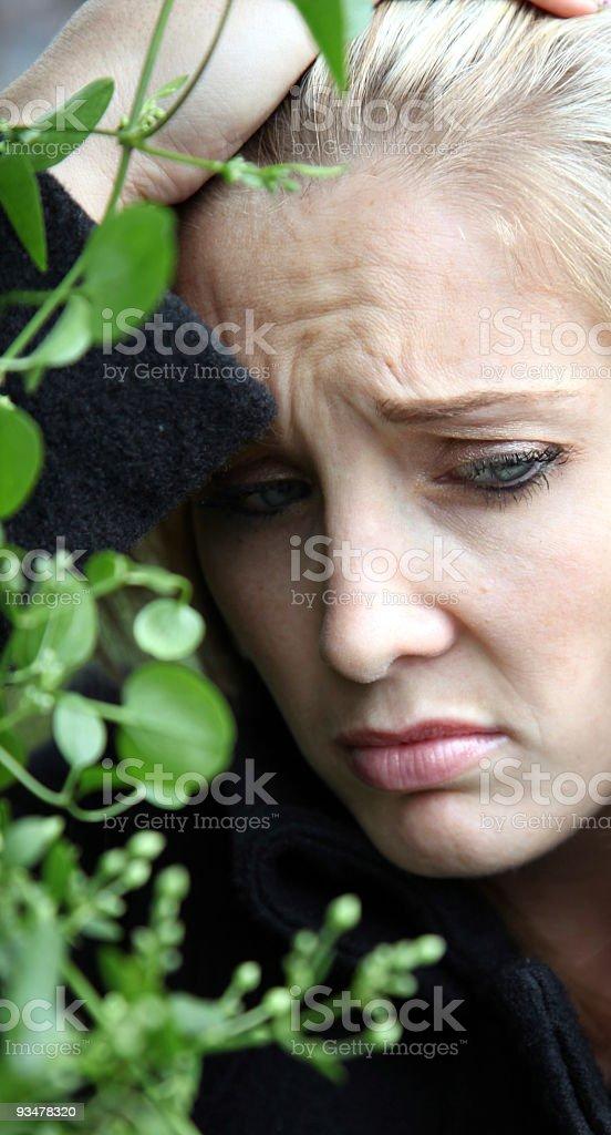 Deprimida rubia foto foto de stock libre de derechos