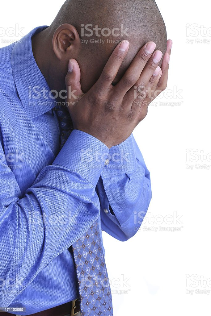 depressed business man royalty-free stock photo