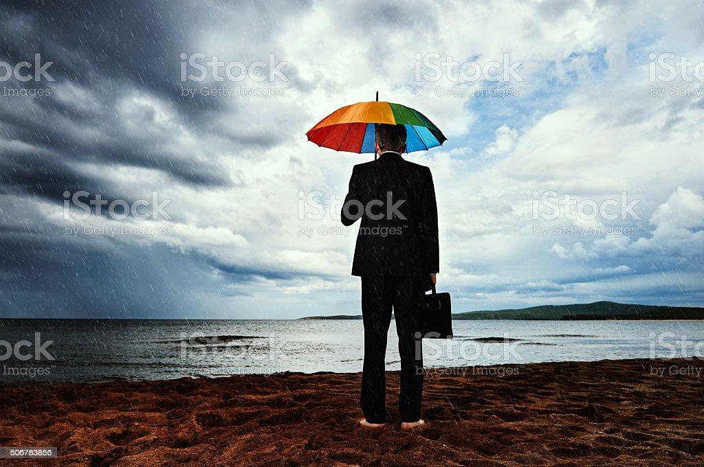 depressed business man stock photo