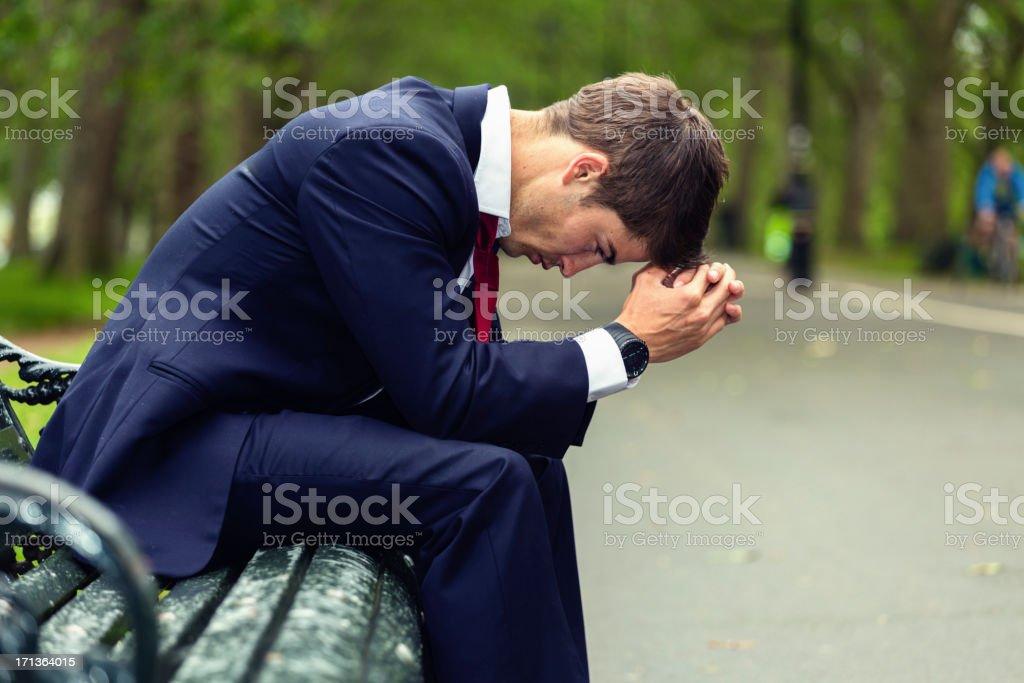 Depressed Businessman stock photo