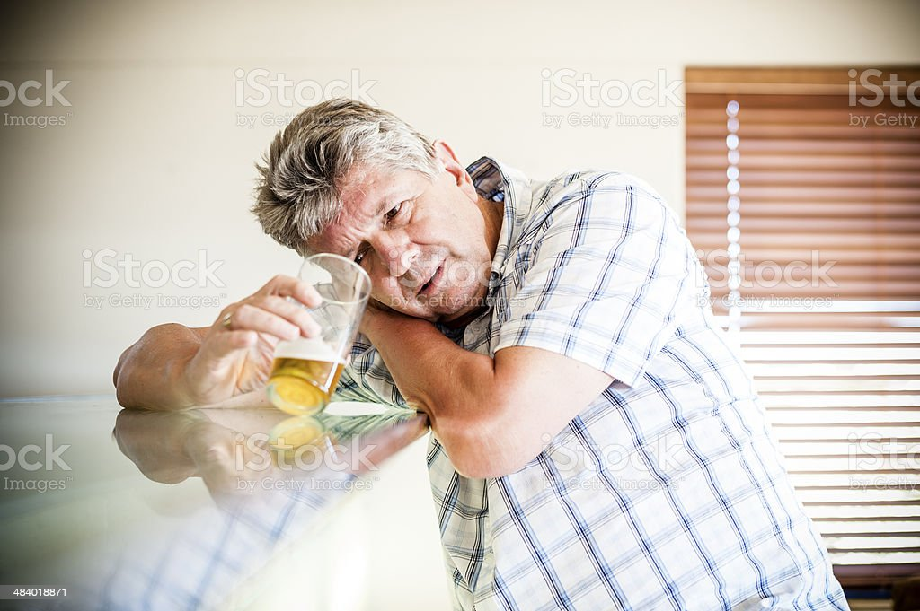 Depressed Drunk Man royalty-free stock photo