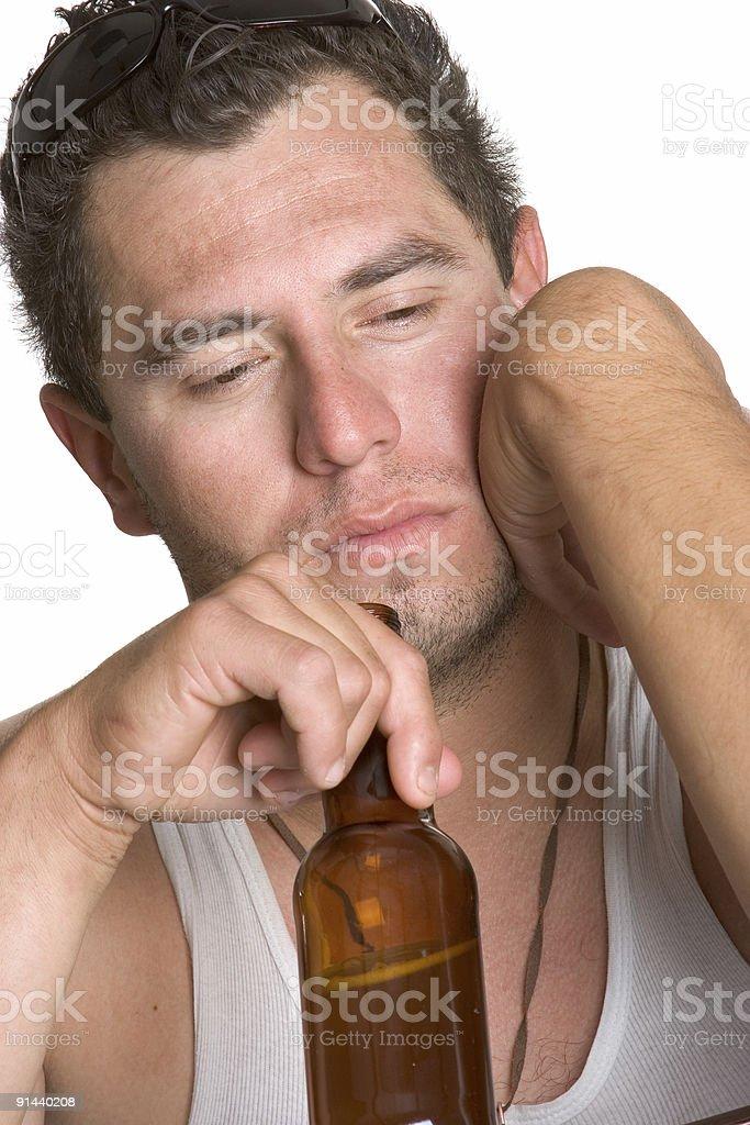 Depressed drunk royalty-free stock photo