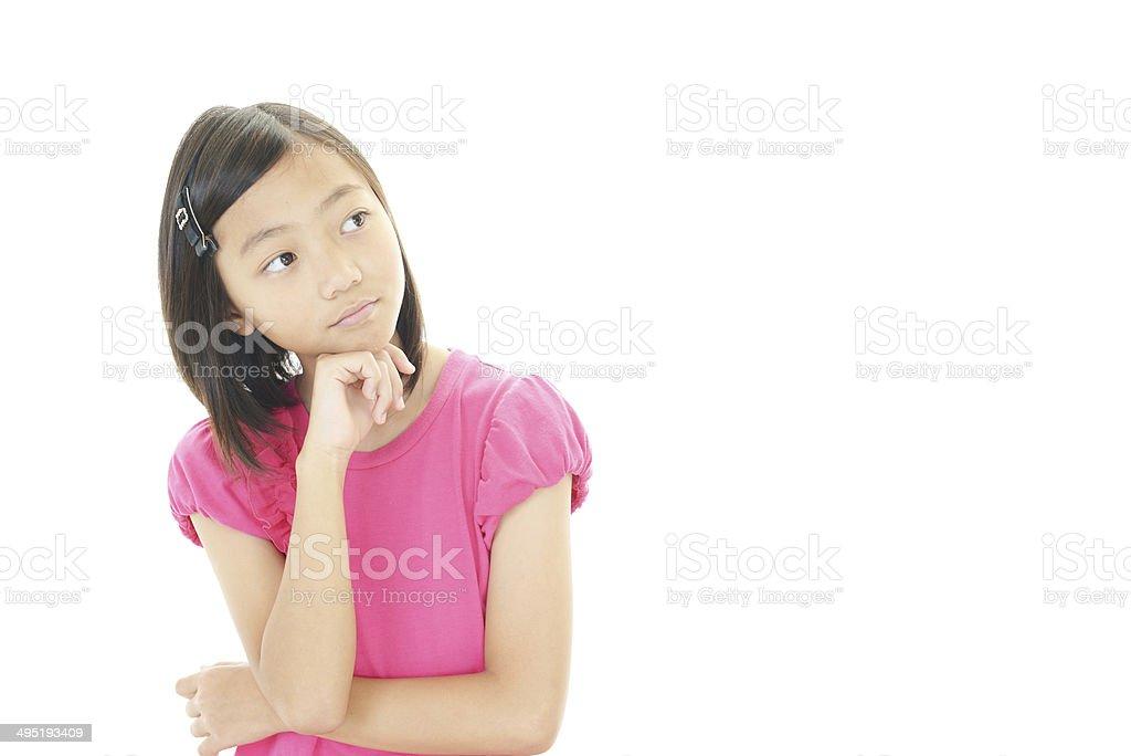 Depressed girl royalty-free stock photo