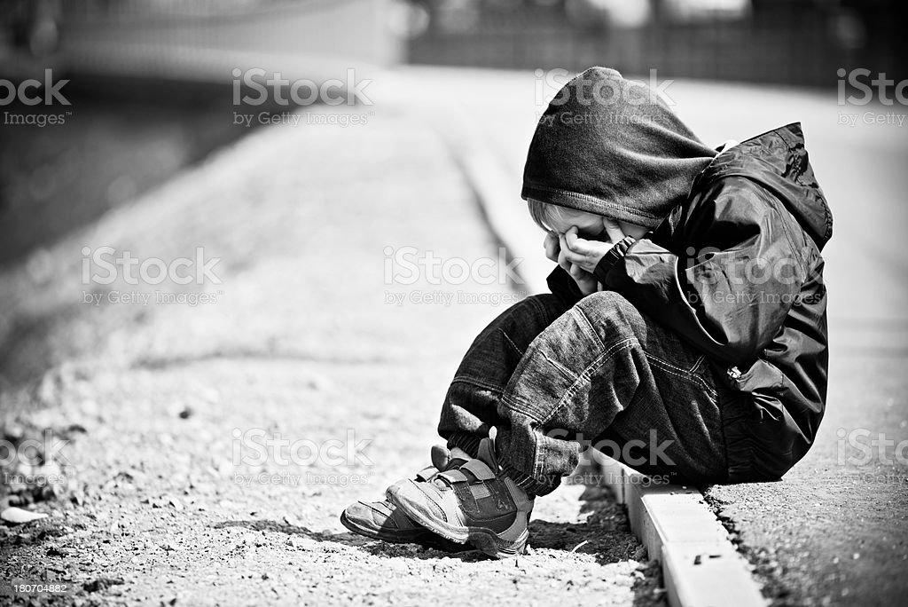 Depressed Kid stock photo