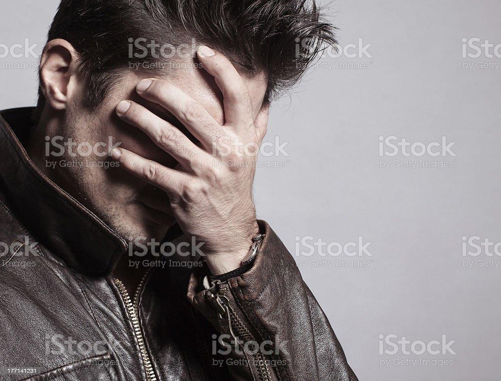 Depressed man royalty-free stock photo