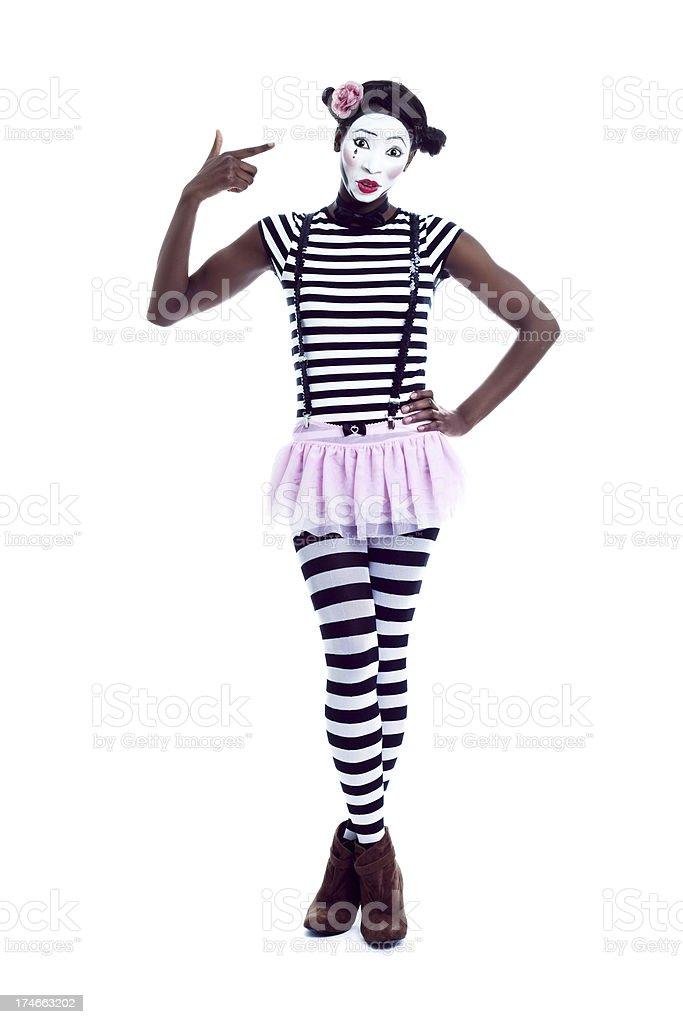 Depressed Mime royalty-free stock photo