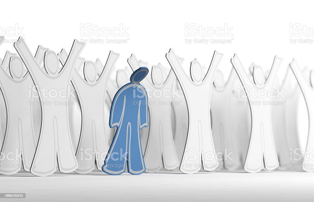 Depressed or Depression vector art illustration
